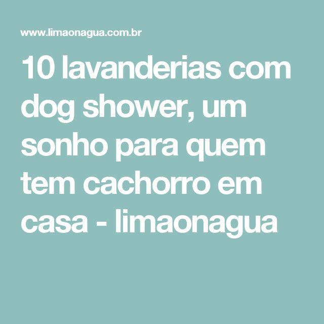 10 lavanderias com dog shower, um sonho para quem tem cachorro em casa - limaonagua