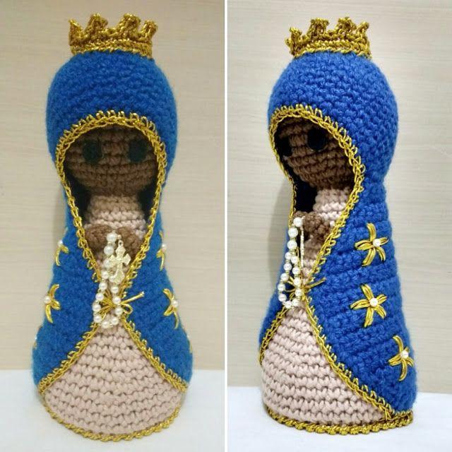 Belas Artes Crochê e Cia: Nossa Senhora Aparecida Amigurumi (Crochê)