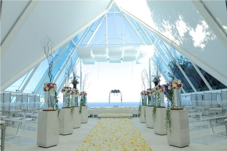 Chapel decoration with upgrade flower walkway by Tirtha Bridal Uluwatu Bali