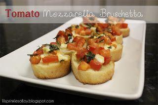 Lil' Sprinkles of Joy: Tomato Mozzarella Bruschetta