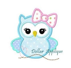 Big Bow Owl Applique - 2 Sizes! | What's New | Machine Embroidery Designs | SWAKembroidery.com Dollar Applique