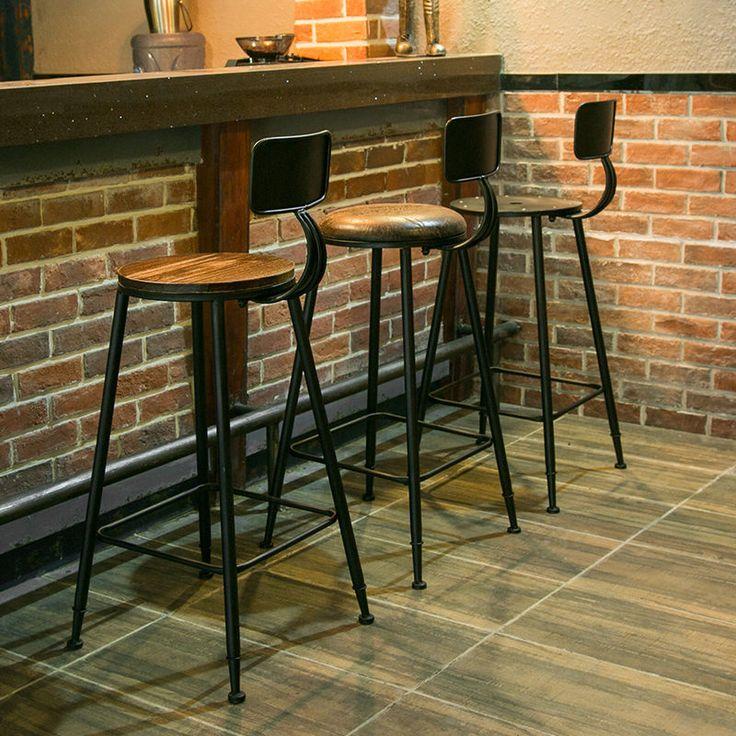 INDUSTRIAL VINTAGE RETRO RUSTIC URBAN STYLE METAL RESTAURAN BAR STOOL CAFE CHAIR | eBay