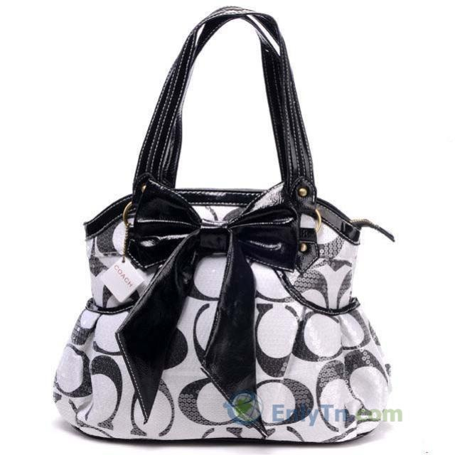 Fashion kristin dimgray op art sateen and black butterfly knot accessories coach handbags i want this i been wanting :(