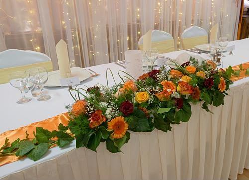 őszi hangulatú főasztaldísz - Amaltheia Manufaktúra virág és dekoráció