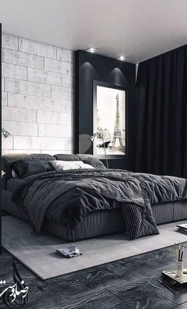 Mens Bedroom Design Ideas Awesome 61 New Season And Trend Bedroom Design And Ideas Page 61 In 2020 Masculine Interior Design Small Bedroom Decor Mens Bedroom