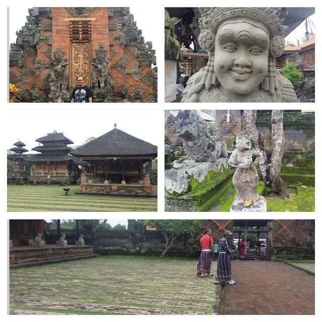 Batuan Temple in Gianyar, Bali - The temples is designed very beautiful with full of Balinese ornaments and the roof of the temple building is made from the fiber of chromatic black palm tree.