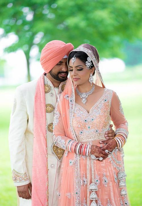 peachy precious! Aline for Indian weddings