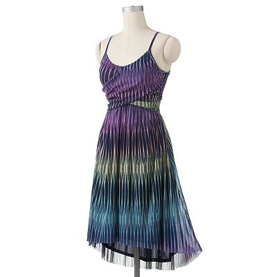 ELLE Ombre Hi-Low Hem Dress, Kohl's