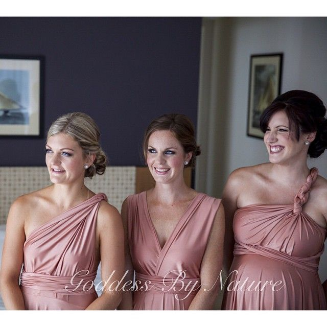 Doesn't Claire's bridesmaids look stunning in their Goddess By Nature dresses! ❤ the amazing rose champagne colour on them & her maternity bridesmaid is glowing with her gorgeous baby bump too @loverslanephoto #goddessbynature #goddessbynaturedress #bridalparty #bridesmaids #bridesmaidsdress #natural #happy #wedding #weddingphoto #pretty #photoshoot #multiwaydress #multifunctionaldress #awardwinning #australiandesigner #madeinaustralia #1dressmanyways #wrapdress #infinitydress…