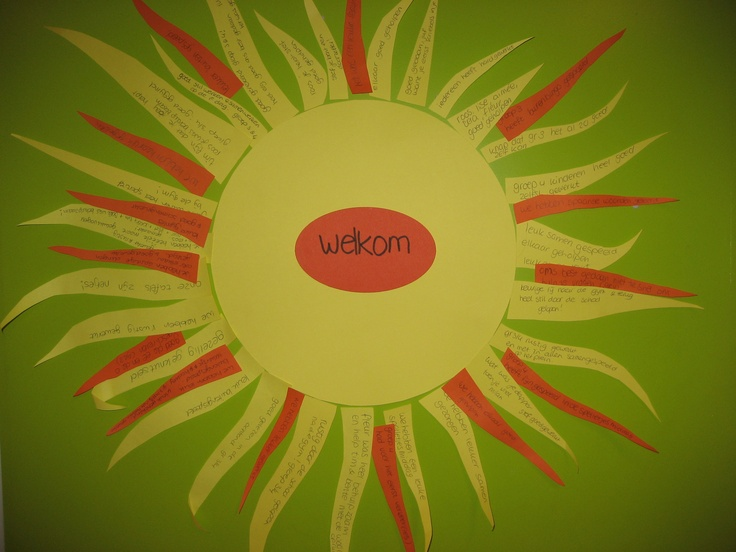 elke dag een zonnestraal voor de hele klas. Wat is er goed gegaan? wat was leuk/fijn wat we met de klas gedaan hebben? voor je het weet heb je een zon vol stralen!
