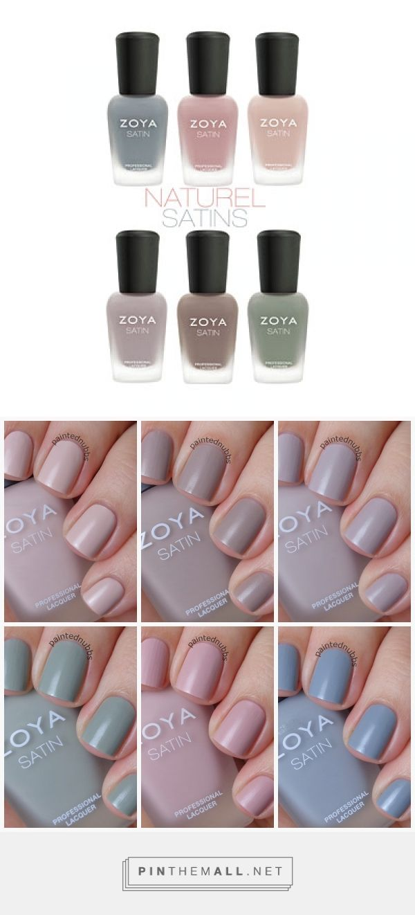 #Zoya Naturel Satin Collection | New Spring 2015 nail polish collection ... a nice change from the typical pastels, these soft colors have a satin finish. One of my favorite brands for being Big 5 free! NO formaldehyde, formaldehyde resin, toluene, dibutyl phthalate or camphor! #makeupjunkie #nailpolish