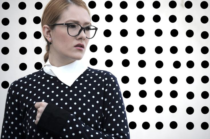 [ Lizzie Lo ] : comme un petit garçon [CHANEL 3213 glasses  +  MAC sirup  +  Comme des Garçons twin polka dot layer shirt  +  Maison Martin Margiela asymmetric shirt  +  vintage Comme des Garçons boy shorts  +  CDG BLACK candy bag  +  vintage Christian Lacroix polka dot pumps]