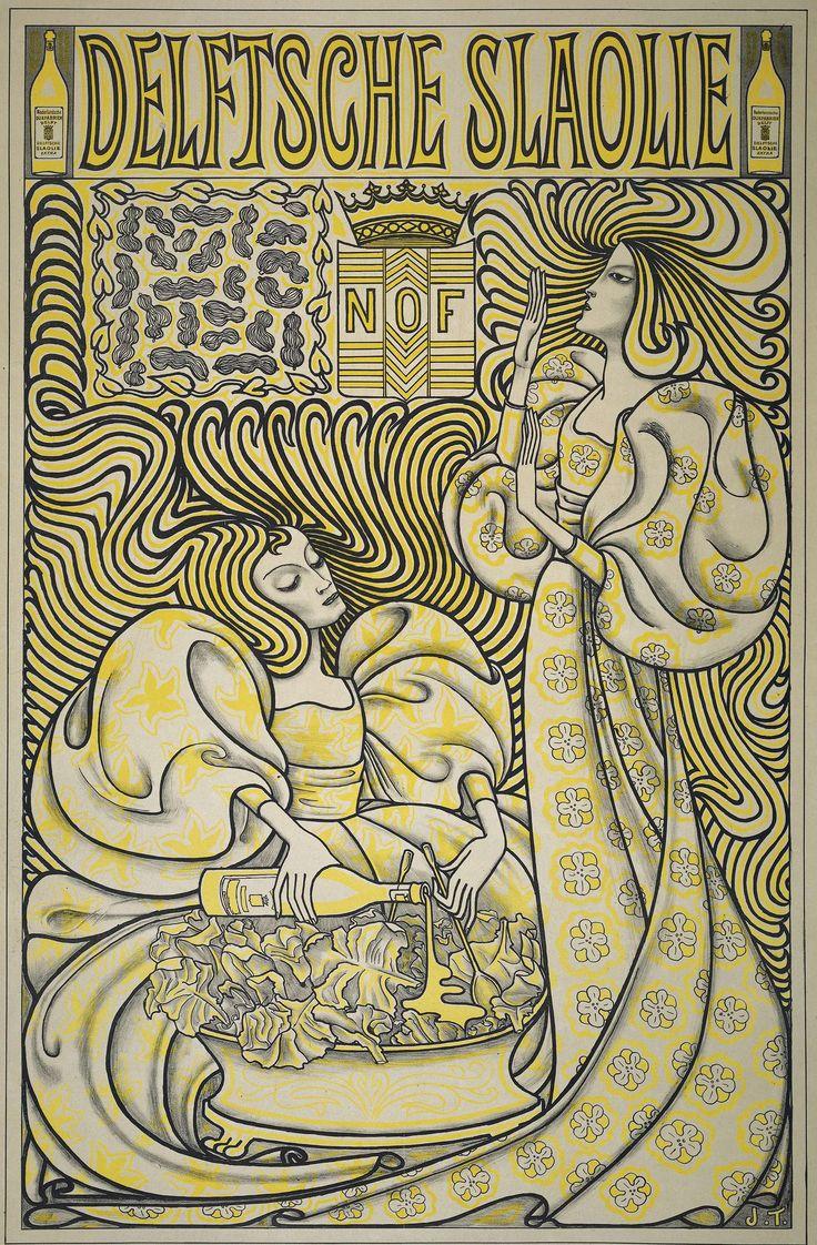 Delftsche Slaolie (Delft Salad Oil) poster - Jan Toorop, 1894