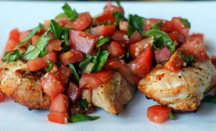 HCG Chicken Bruschetta - Powered by @ultimaterecipe