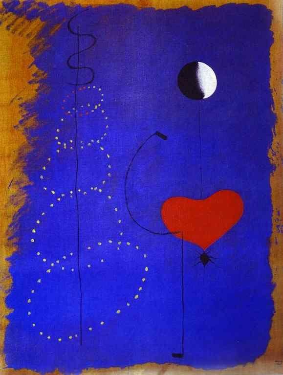 'Tänzer', öl auf leinwand von Joan Miro (1893-1983, Spain)