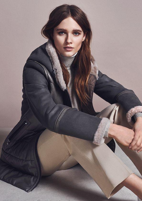 CHRIST Lammfelljacke Evita #damenmode #winterjacke #grau #fashion
