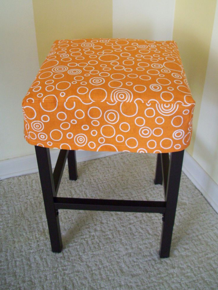 Square Barstool Slipcover Bar Stool Cover via Etsy I want to make