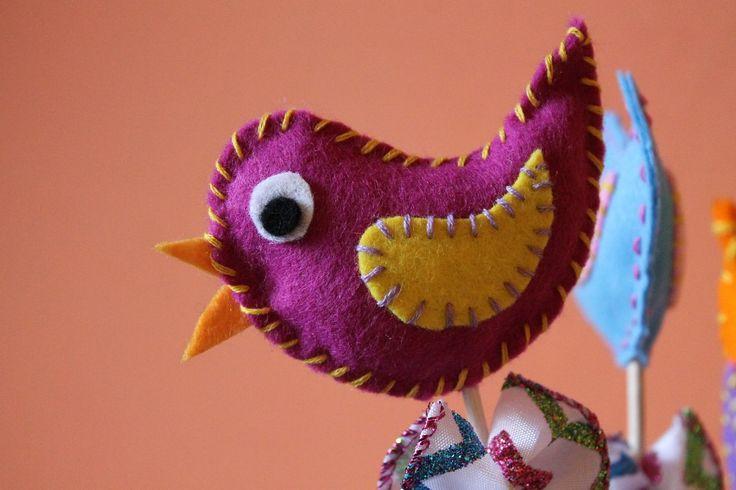 Filcowy ptaszek