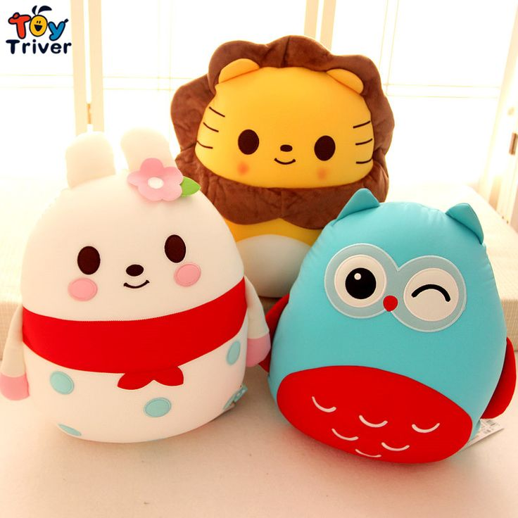 $19.99! foam particles containing plush owl lion bee pig penguin ladybird elephant rabbit dog toy stuffed doll baby kids gift Triver Toy