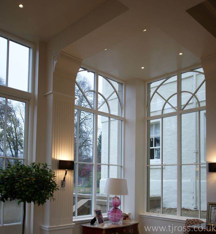 Curved Headed Windows in a Garden Room