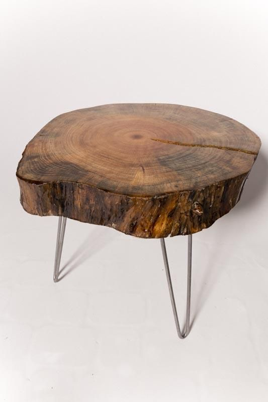 Dark Tree Slice Table Flea Pop For The Home Pinterest