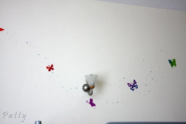 Butterflies in the girls room