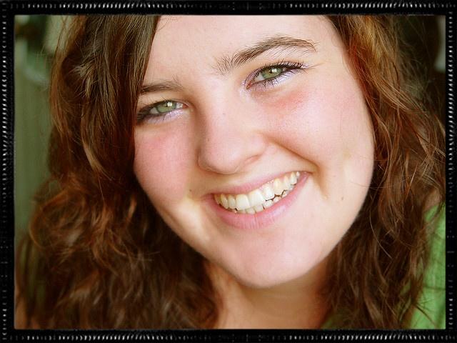 green eyed, smile, girl next door