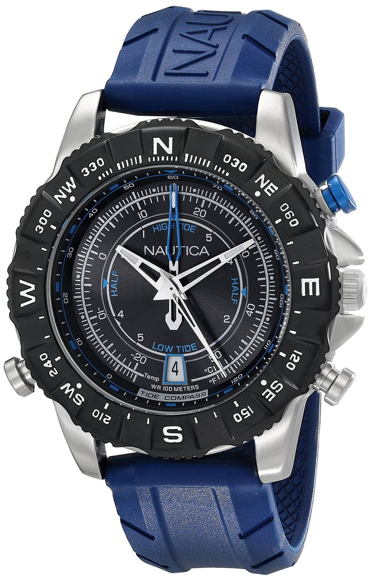 17 best images about nautica watches shops jewelry nautica men s nad20005g nsr 103 tide temp compass analog display ese quartz blue watch