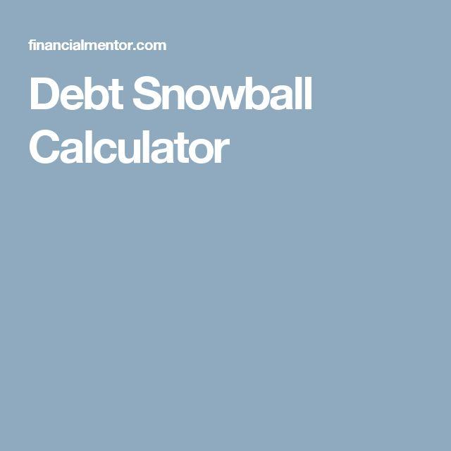 Debt payoff calculator snowball