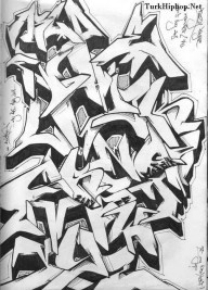 3D Graffiti Alphabet Harfleri BlackBook 3D Graffiti Alphabet ...