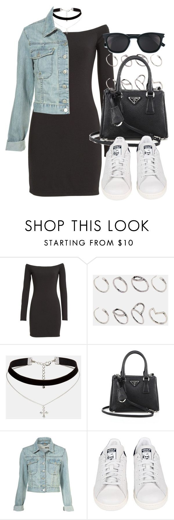 """Style #11400"" by vany-alvarado ❤ liked on Polyvore featuring T By Alexander Wang, ASOS, Prada, adidas and Yves Saint Laurent"