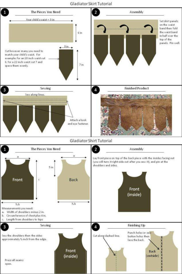 Child Gladiator Costume Tutorial