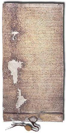 Magna Carta —La Magna carta abrégée promulguée en 1225  par Henri III.