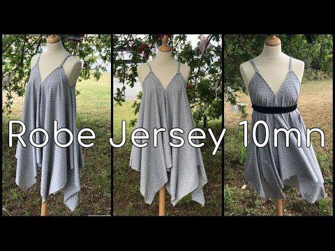Coudre une Robe en Jersey en 10mn - Tuto Couture DIY