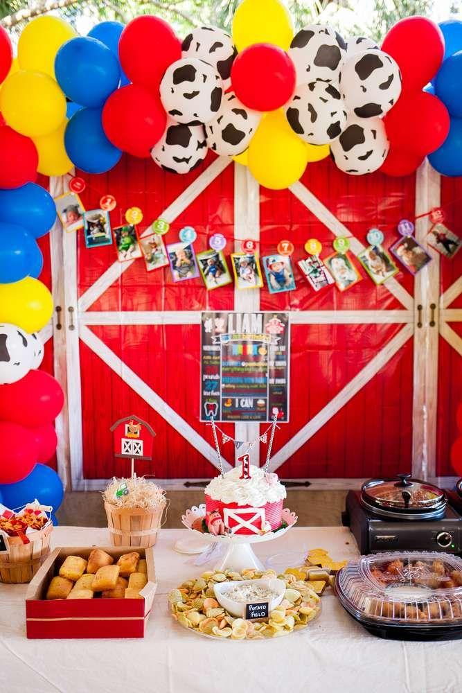 Farm Birthday Party Ideas Farm Theme Birthday Barnyard Birthday