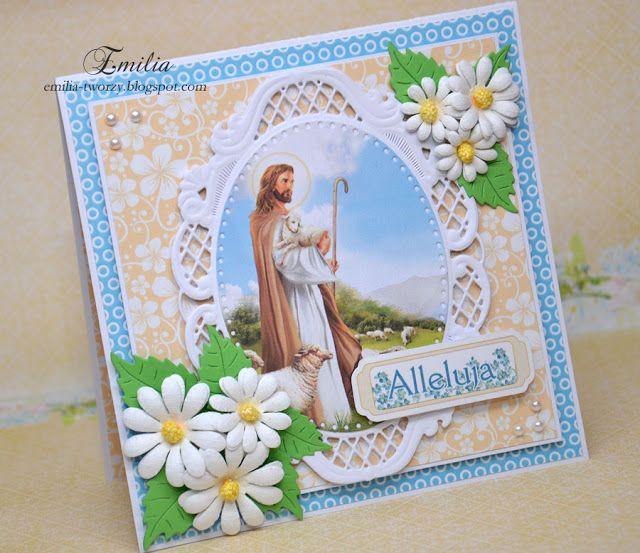 Jezus zmartwychwstały/Kartka wielkanocna/Easter card