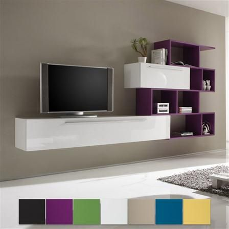 Large Horizontal Cabinet & Small Horizontal Cabinet In White And Shelving Unit, Various Colours Available, $800