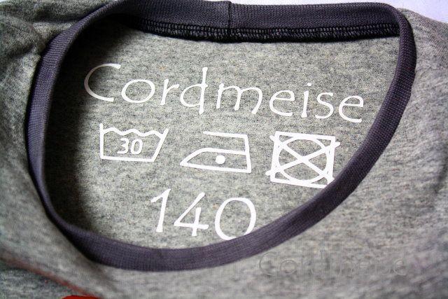 Cordmeise: Kleidergrößen und Pflegeanleitungen