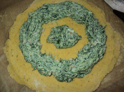 Tarta ze szpinakiem, serem, szynką  - Krok 1