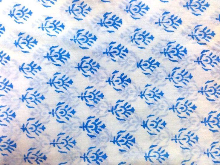 "5 yard Loose Fabric Handmade 100% Cotton""Hand Block"" Sanganeri Print Fabric CSJ #Handmade"