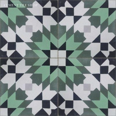 Casablanca Green Cement Tiles Tiles Stones