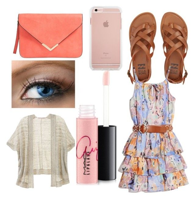 """Untitled #32"" by caoimheod on Polyvore featuring Billabong, GUESS by Marciano, Victoria's Secret and MAC Cosmetics"
