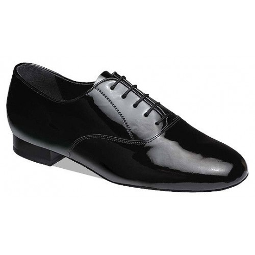 Supadance 2500, black patent  Mens Ballroom shoe in Black Patent, Regular and Wide Fittings - New Impact Absorbing Low Heel. Full Suede Sole.  Price: 109.50€