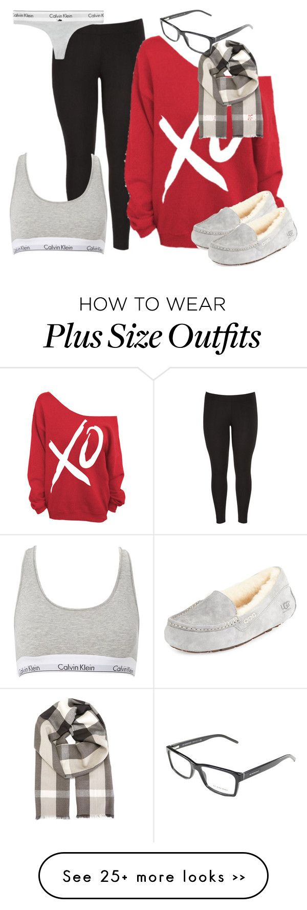 I Love You Like XO - Plus Size by fatbottomedfashion on Polyvore featuring maurices, xO Design, Calvin Klein, UGG Australia and Burberry