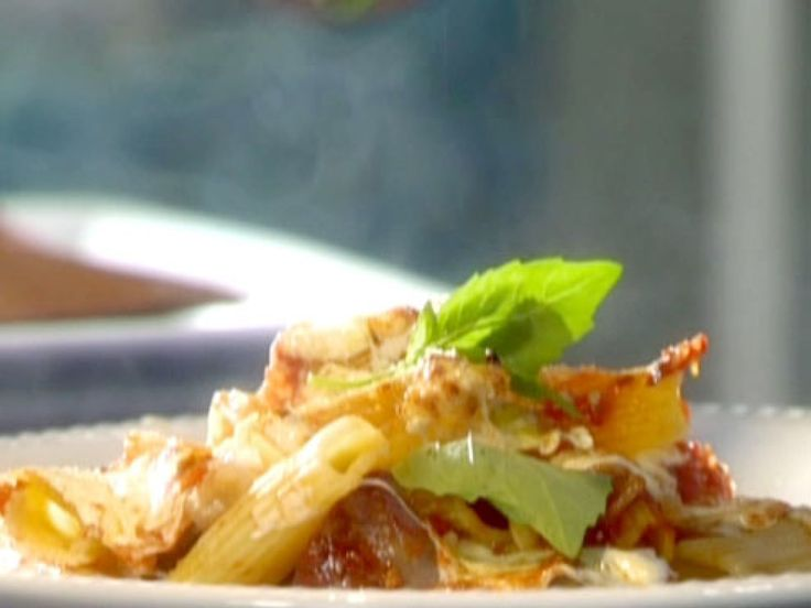 Baked Rigatoni with Eggplant and Sausage recipe from Tyler Florence via Food Network