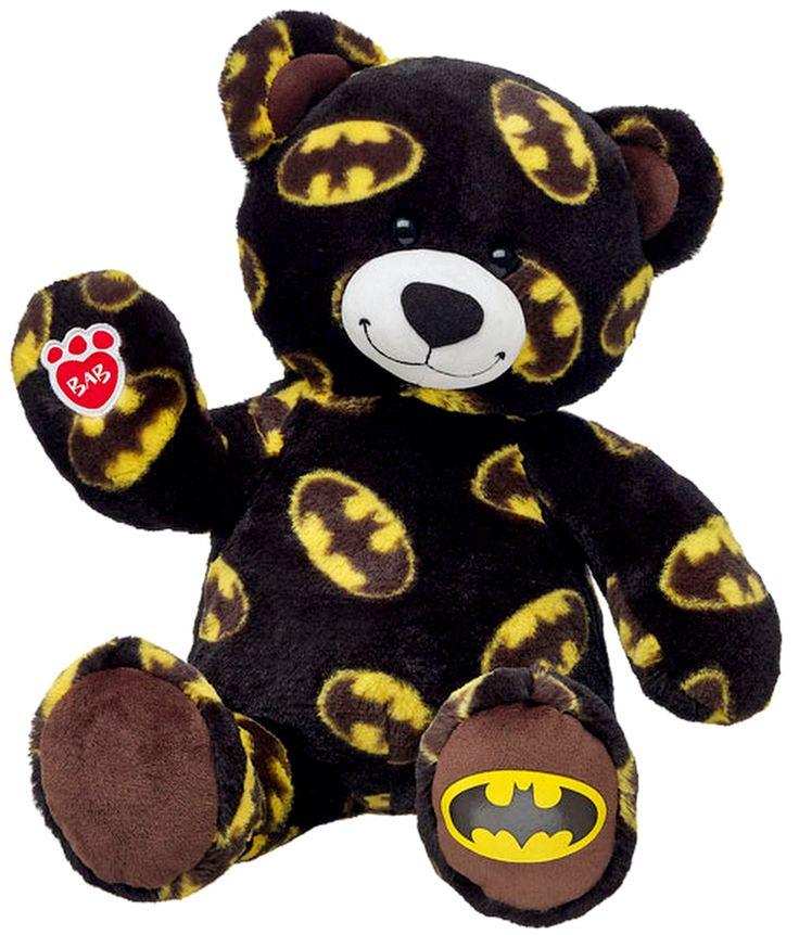 NEW Build a Bear Batman Superhero Themed Teddy 16 in. Stuffed Plush Toy Animal Retired BAB Plushie In Stock Now at http://www.bonanza.com/listings/NEW-Build-a-Bear-Batman-Superhero-Themed-Teddy-16-in-Stuffed-Plush-Toy-Animal/279685887