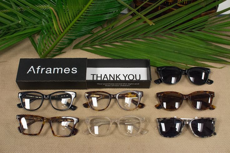 Aframes Eyewear is an independent line that donates $2.00 from each sale to prevent prevent blindness in Africa. Each frame is made of Italian acetate and named after a country in Africa.