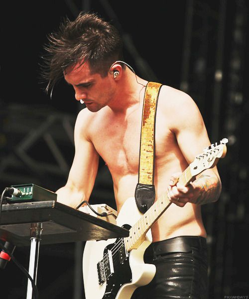 Brendon Urie, without a shirt…as is proper
