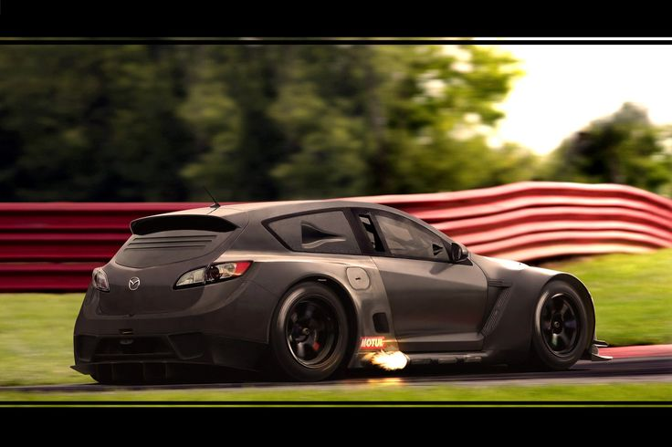 Mazda 3 GT300 photoshop illustration