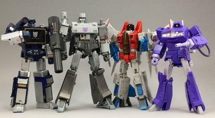 Transformers: Masterpiece MP-13 Soundwave, MP-36 Megatron, MP-11 Starscream (Coronation Ver.) and MP-29 Laserwave (Shockwave)